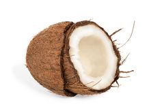 Half coconut with pulp Stock Photography