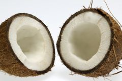 Half of coconut with white core Royalty Free Stock Photos
