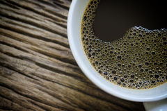 Half of coffee cup royalty free stock photography