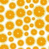 Half color orange fruits seamless pattern eps10 Stock Photography