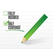 Half coverage check mark illustration Royalty Free Stock Photos