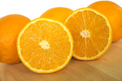 Half cross section of orange Royalty Free Stock Images