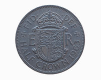 Half crown coin Royalty Free Stock Images