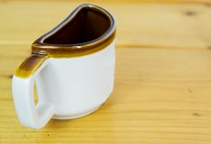 Half a cup of coffee Stock Images