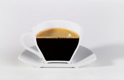 A half cup of coffee. Stock Images