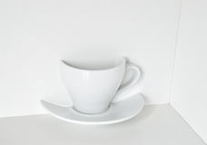Half a cup. Royalty Free Stock Images