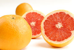 Half-cut grapefruit Stock Photos