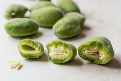 Half Cut Green Almonds with Seeds / Cagla Badem. Organic Food Stock Photos