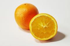 Half Cut Open Orange. Orange and half cut orange Stock Photo