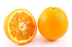Half cut orange Royalty Free Stock Image