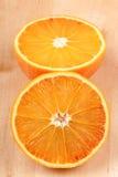 Half cut orange Stock Photos