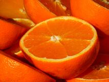 Half Cut Orange Fruit Royalty Free Stock Photos