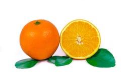 Orange fruit. Half and cut  orange fruit Royalty Free Stock Photography