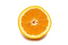Half-cut orange isolated. On  the white Royalty Free Stock Image