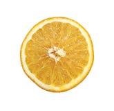 Half cut of orange isolated Royalty Free Stock Photo