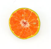 Half cut orange. Royalty Free Stock Images