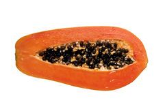Half cut papaya fruits. Royalty Free Stock Photography