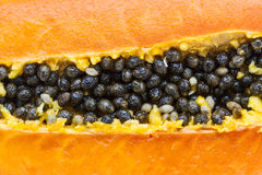 Half cut papaya fruits Royalty Free Stock Images