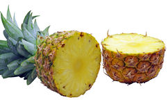 Half cut pineapple Royalty Free Stock Images
