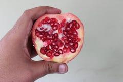 Half cut pomegranate Royalty Free Stock Photos