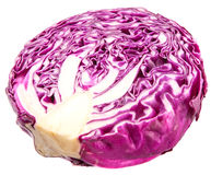 Half Cut Red Cabbage VI Stock Photos