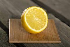 Half Cut Sliced Lemon Stock Images