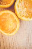 Half cut squeezed oranges Stock Photos