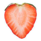 Half cut strawberry close-up Royalty Free Stock Images