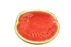 Half of cut water melon. Royalty Free Stock Photo