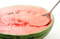 Half cut watermelon Royalty Free Stock Images