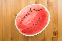 Half cut watermelon Stock Photos