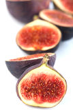Half cutted fresh fig fruits Stock Image