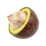 half cutting avocado isolated on white royalty free stock photo
