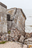 Half-demolished military fortifications Stock Images