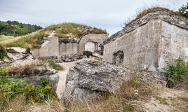 Half-demolished military fortifications Royalty Free Stock Photos