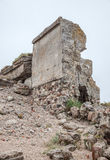 Half-demolished military fortifications Royalty Free Stock Images