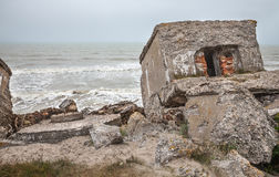 Half-demolished military fortifications Stock Photos