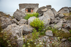 Half-demolished military fortifications Royalty Free Stock Photography