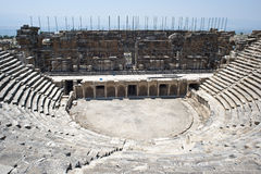 Half-destroyed amphitheatre Stock Images