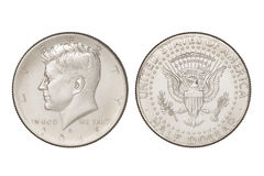 Half dollar coin Royalty Free Stock Images