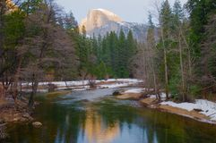 Half Dome. At dusk, Yosemite National Park, California Stock Photo