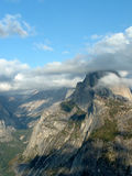 Half Dome. Of yosemite, surrounded by cloud Stock Images