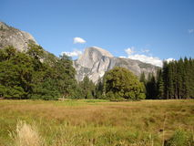 Half Dome. Is the highlight of Yosemite Valley Royalty Free Stock Photography