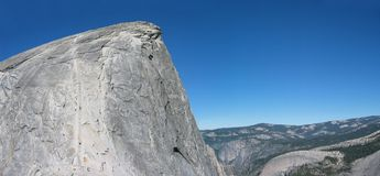 Half Dome. Panoramic View of Half Dome in Yosemite NP stock photo