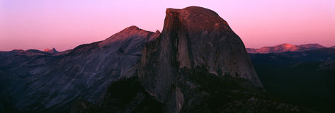 Half Dome. View from Glacier point Royalty Free Stock Photography
