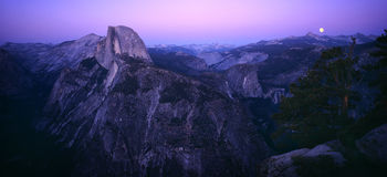 Half Dome. View from Glacier point Stock Images