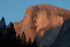 Half Dome alpenglow. California, Yosemite National Park Royalty Free Stock Photos