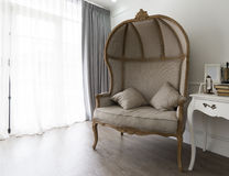 Half-dome armchair in living room Royalty Free Stock Image