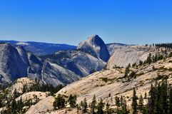 Half-dome as seen from Olmsted point in Yosemite Stock Photos