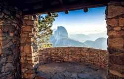 Half Dome Cabin View stock photos